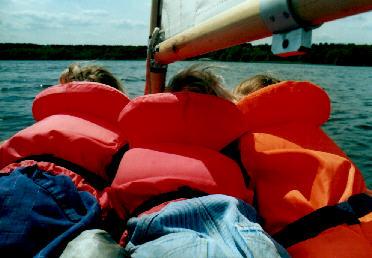 ablegen vom steg motorboot