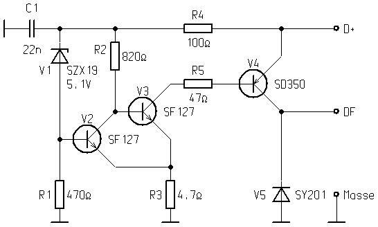 Schaltplan Gleichstromlichtmaschine Mit Mechanischen
